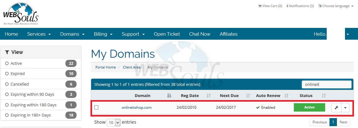 Domain Whois or Name Servers Change