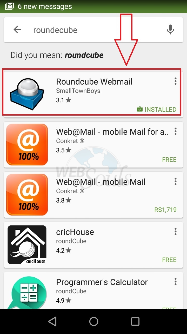 How to configure round cube app on Android? - Knowledgebase - WebSouls